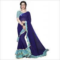 Fancy Ruffle Designer Saree Designer Sarees