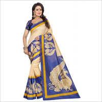 Kalamkari New Printed Silk Saree
