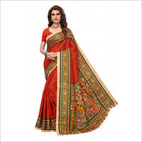 Kalamkari Big Border Silk Saree