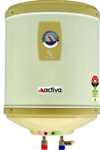 ACTIVA Amazon Storage Water Heater Geyser ABS Top Bottom Stainless Steel Body (15Ltr.)