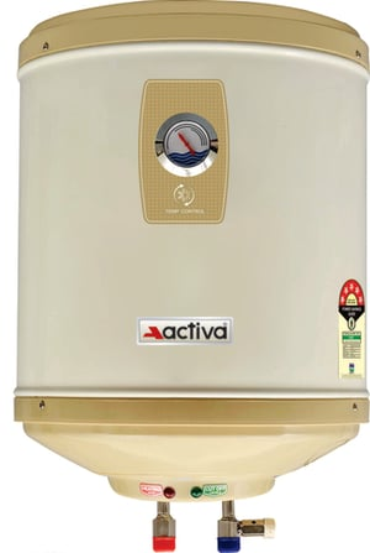 ACTIVA Amazon Storage Water Heater Geyser ABS Top Bottom Stainless Steel Body (15Ltr.)