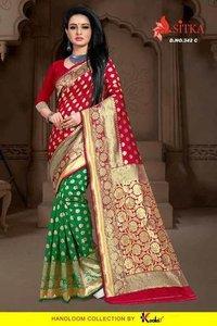 Silk Jacquard Wholesale Saree