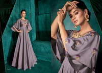 Triva Silk With Heavy Embroidery gown