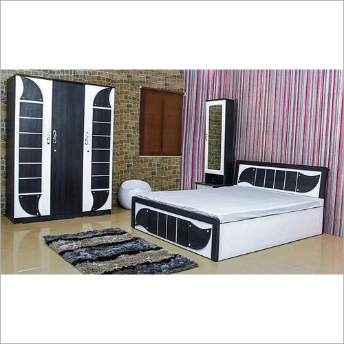 Wooden Almirah Bed Set