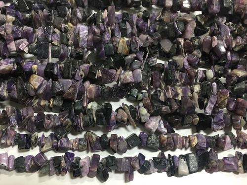 Charoite beads, charoite chips beads, 34 inch strand