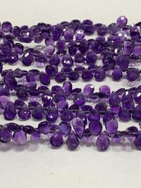 8 Inch Amethyst Pear Briolette,amethyst Beads Dark Blue Purple