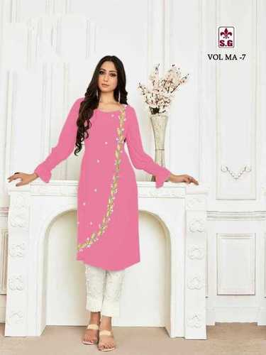 Designer Straight Cut Ladies Suit