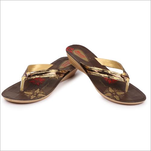 Ladies PU Fancy Slippers