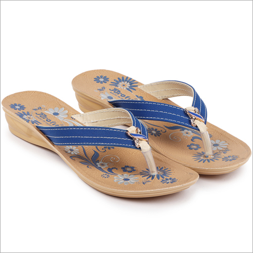 Ladies PU Printed Slippers