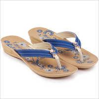 Ladies PU Printed Slippers