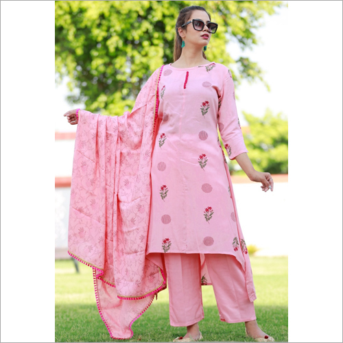 Pink floral printed suit set