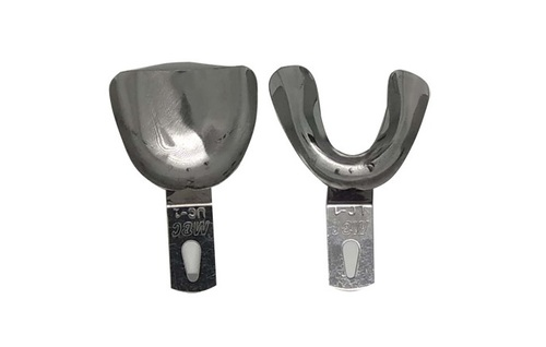 Dentmark dental indian edentulous / non perforated impression tray -uc1/lc1