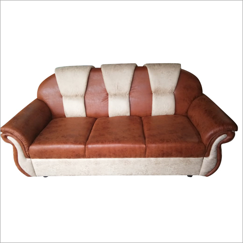Leather Three Seater Sofa Chair
