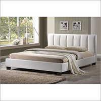 Georgia Diamante White Faux Leather Designer Bed