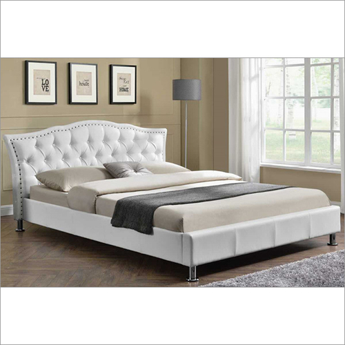 Georgio Diamante White Designer Bed