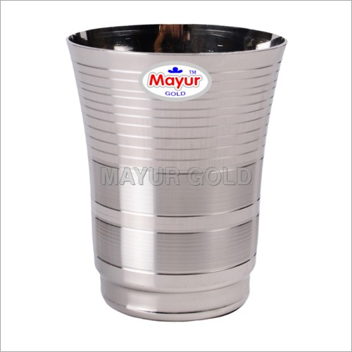 Y Deepline Stainless Steel Drinking Glass
