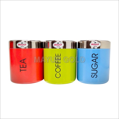 Colorful Kitchen Steel Container Set