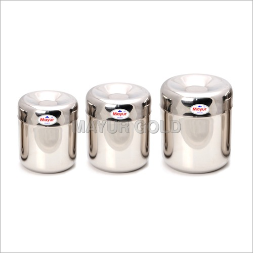 Stainless Steel Apple Deep Canister