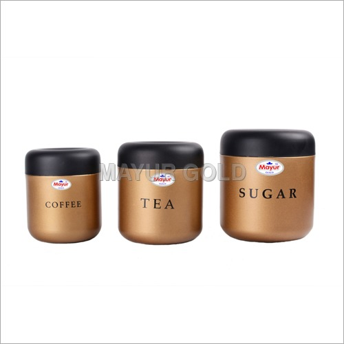 Stainless Steel Gold Metallic Container