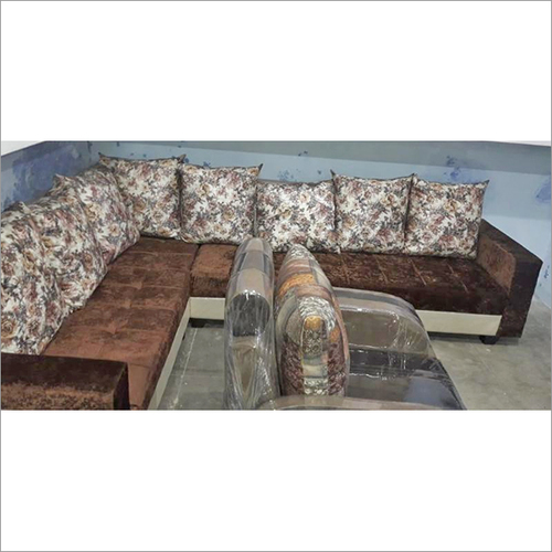 Solid Wood L-shape Sofa Set