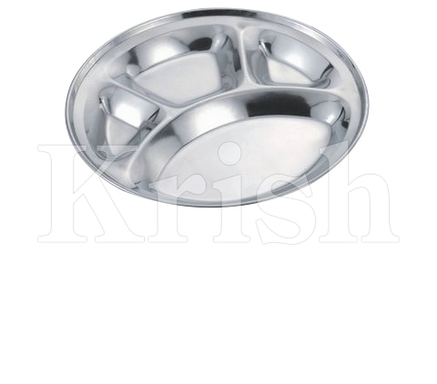 Round Deluxe Compartment Tray