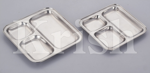 Square 3 Compartment Tray