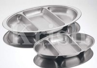 Oval 3 Compartment Tray