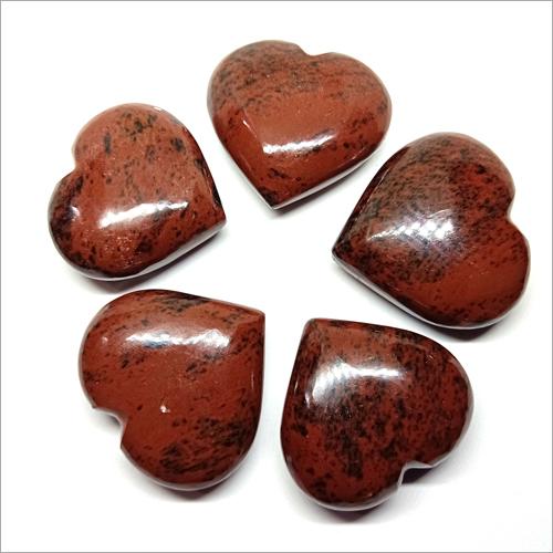 Mahogany Obsidian Puffy Heart Stone