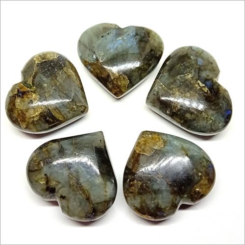 Labradorite Puffy Hearts Stone