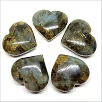 Labradorite Puffy Hearts Stone
