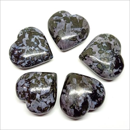 Indigo Gabroo Puffy Heart Stone