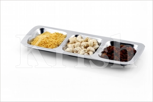 3 Compartment Long Tray