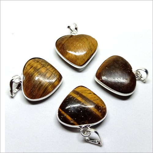 Tiger Eye Heart Shape Pendant
