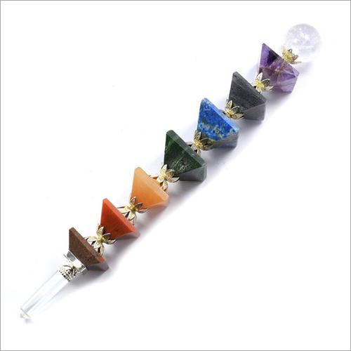 7 Chakra Pyramid Healing Stick