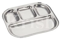 Semi Oval 4 Compartment Tray