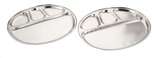 Oval 4 Compartment Tray