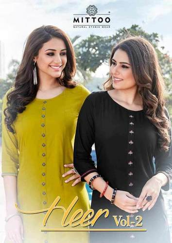 Mittoo Heer Vol-2 Rayon Slit Kurti Catalog