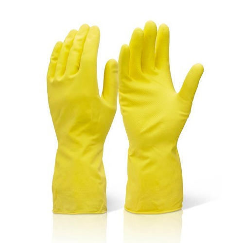 Household Rubber Yellow Gloves