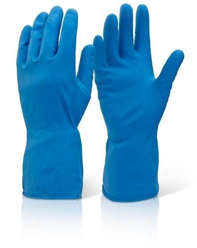 Household Rubber Blue Gloves