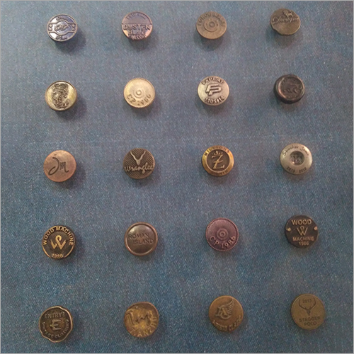 Bronze Jeans Button