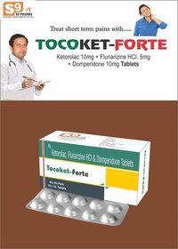Ketorolac 10mg +Flunarazine 5mg + Domperidone 10mg