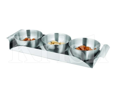 Prem Bowl Snack Tray Set- 3 Pcs
