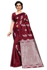 Kanjivaram Soft Jacquard Silk Saree