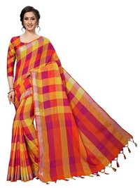 ALPHA Checks Cotton Silk saree