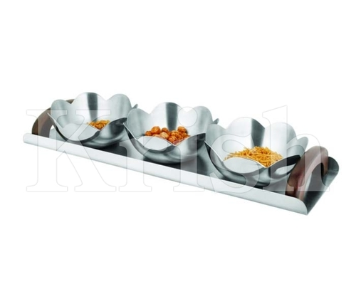Five Petal Bowl Snack Tray set-3 Pcs