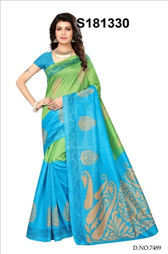 Digitel Printed Bhagalpuri Silk Saree
