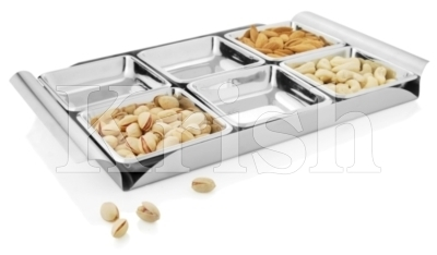 Square Bowl Snack Tray set- 6 Pcs