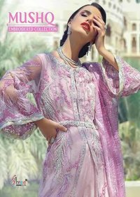 MUSHQ NET EMBROIDERY PAKISTANI WEDDING SALWAR KAMEEZ