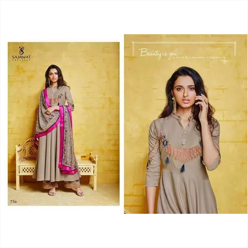 Heavy Embroidery Inner Stitched Gown