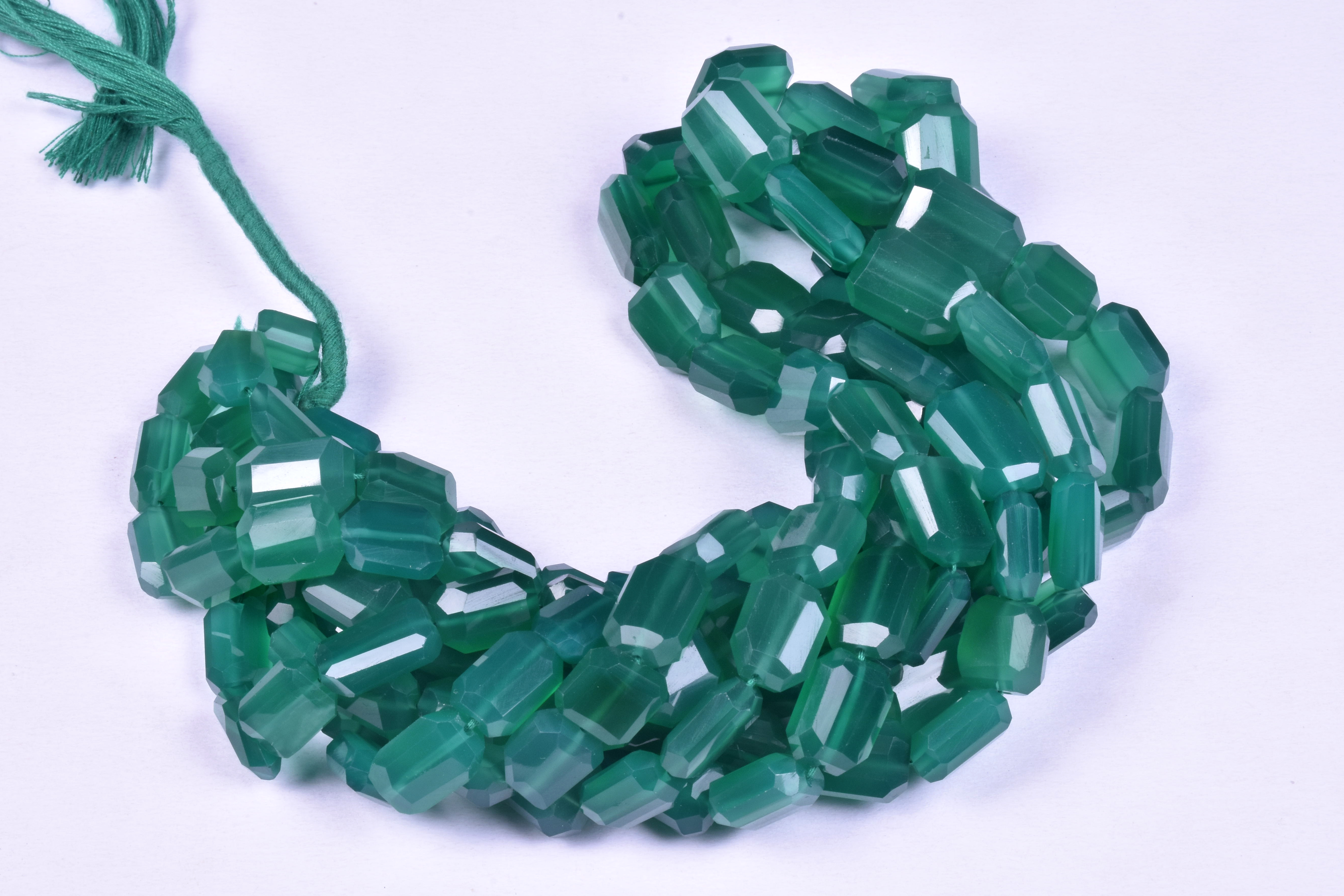 Green Onyx Faceted Beads